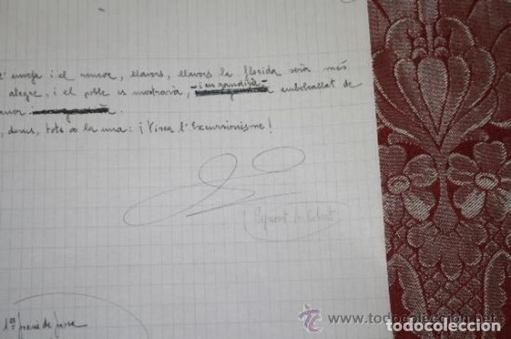 Manuscritos antiguos: INTERESANTE LOTE DE MANUSCRITOS ORIGINALES DE PERE ELIAS I BUSQUETA - AÑOS 34, 35 Y 36 - FIRMADOS - Foto 72 - 35687475