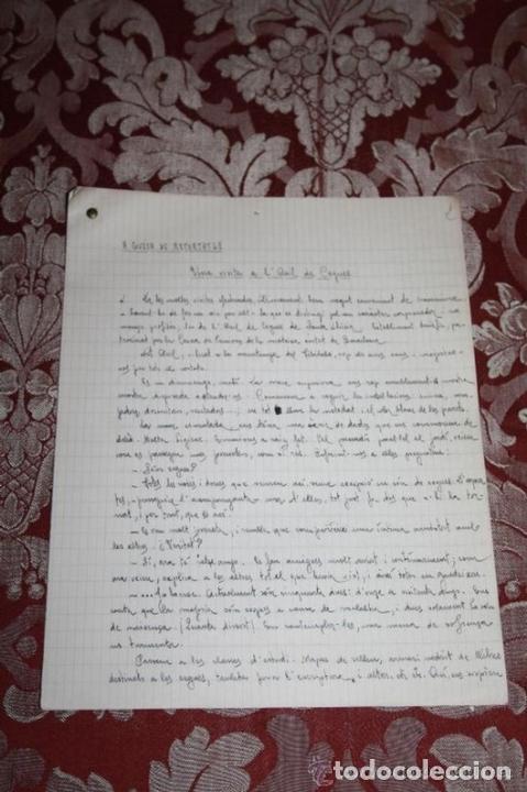 Manuscritos antiguos: INTERESANTE LOTE DE MANUSCRITOS ORIGINALES DE PERE ELIAS I BUSQUETA - AÑOS 34, 35 Y 36 - FIRMADOS - Foto 74 - 35687475