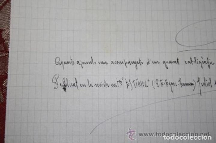 Manuscritos antiguos: INTERESANTE LOTE DE MANUSCRITOS ORIGINALES DE PERE ELIAS I BUSQUETA - AÑOS 34, 35 Y 36 - FIRMADOS - Foto 76 - 35687475