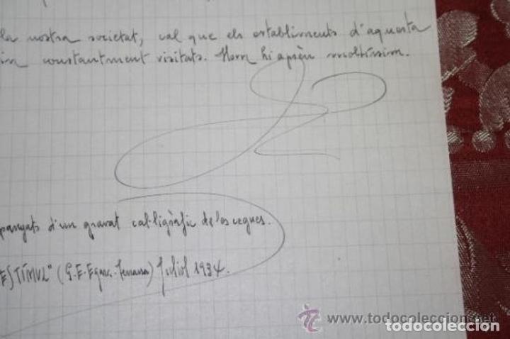 Manuscritos antiguos: INTERESANTE LOTE DE MANUSCRITOS ORIGINALES DE PERE ELIAS I BUSQUETA - AÑOS 34, 35 Y 36 - FIRMADOS - Foto 77 - 35687475