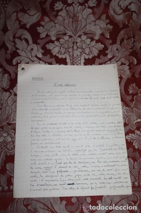 Manuscritos antiguos: INTERESANTE LOTE DE MANUSCRITOS ORIGINALES DE PERE ELIAS I BUSQUETA - AÑOS 34, 35 Y 36 - FIRMADOS - Foto 78 - 35687475