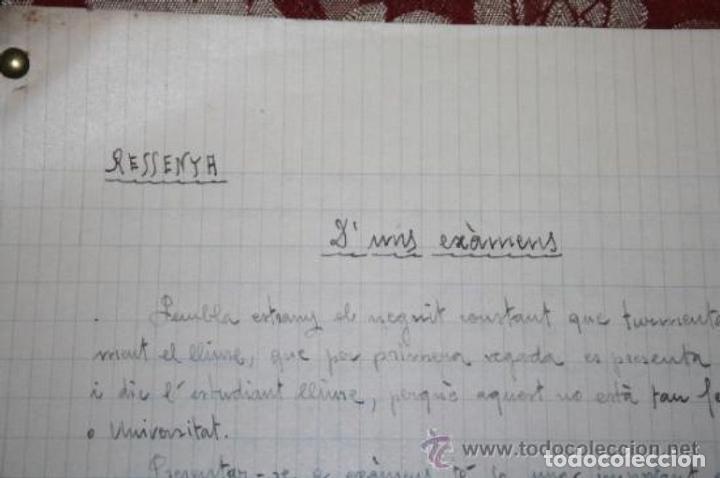 Manuscritos antiguos: INTERESANTE LOTE DE MANUSCRITOS ORIGINALES DE PERE ELIAS I BUSQUETA - AÑOS 34, 35 Y 36 - FIRMADOS - Foto 79 - 35687475