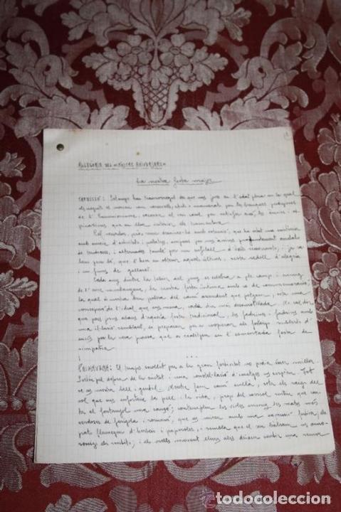 Manuscritos antiguos: INTERESANTE LOTE DE MANUSCRITOS ORIGINALES DE PERE ELIAS I BUSQUETA - AÑOS 34, 35 Y 36 - FIRMADOS - Foto 81 - 35687475