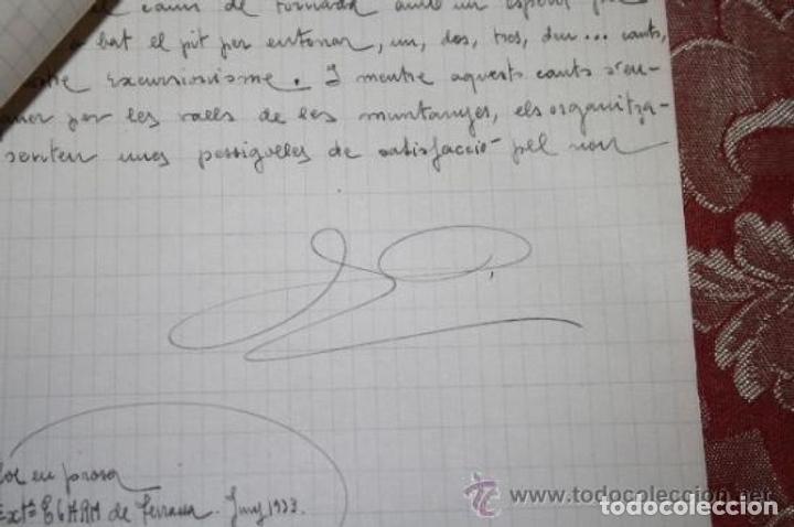 Manuscritos antiguos: INTERESANTE LOTE DE MANUSCRITOS ORIGINALES DE PERE ELIAS I BUSQUETA - AÑOS 34, 35 Y 36 - FIRMADOS - Foto 83 - 35687475