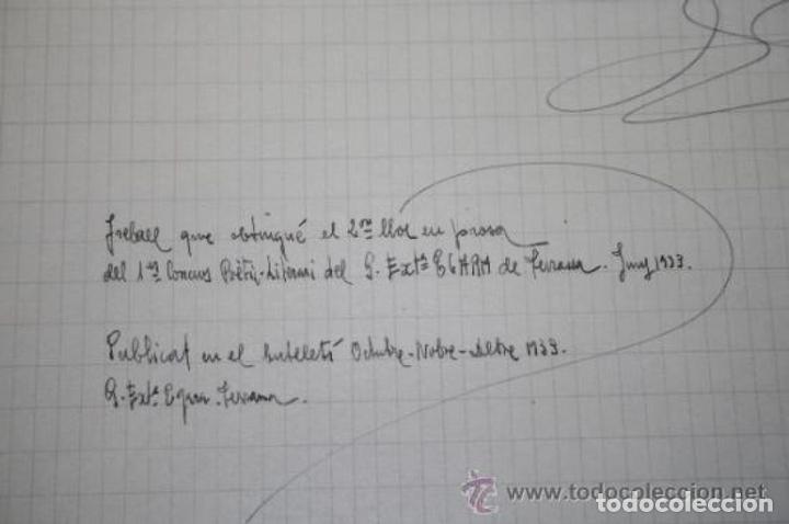 Manuscritos antiguos: INTERESANTE LOTE DE MANUSCRITOS ORIGINALES DE PERE ELIAS I BUSQUETA - AÑOS 34, 35 Y 36 - FIRMADOS - Foto 84 - 35687475