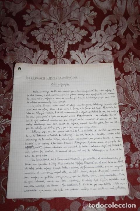 Manuscritos antiguos: INTERESANTE LOTE DE MANUSCRITOS ORIGINALES DE PERE ELIAS I BUSQUETA - AÑOS 34, 35 Y 36 - FIRMADOS - Foto 85 - 35687475