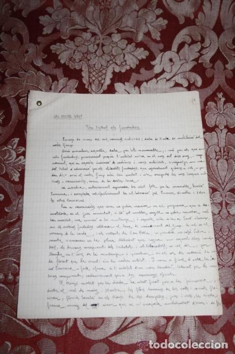 Manuscritos antiguos: INTERESANTE LOTE DE MANUSCRITOS ORIGINALES DE PERE ELIAS I BUSQUETA - AÑOS 34, 35 Y 36 - FIRMADOS - Foto 89 - 35687475