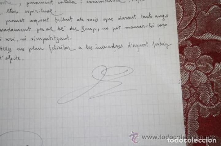 Manuscritos antiguos: INTERESANTE LOTE DE MANUSCRITOS ORIGINALES DE PERE ELIAS I BUSQUETA - AÑOS 34, 35 Y 36 - FIRMADOS - Foto 91 - 35687475