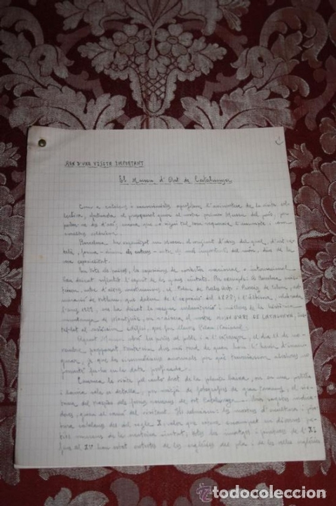 Manuscritos antiguos: INTERESANTE LOTE DE MANUSCRITOS ORIGINALES DE PERE ELIAS I BUSQUETA - AÑOS 34, 35 Y 36 - FIRMADOS - Foto 93 - 35687475