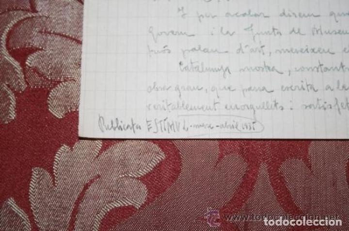 Manuscritos antiguos: INTERESANTE LOTE DE MANUSCRITOS ORIGINALES DE PERE ELIAS I BUSQUETA - AÑOS 34, 35 Y 36 - FIRMADOS - Foto 95 - 35687475