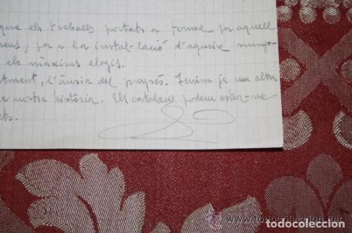 Manuscritos antiguos: INTERESANTE LOTE DE MANUSCRITOS ORIGINALES DE PERE ELIAS I BUSQUETA - AÑOS 34, 35 Y 36 - FIRMADOS - Foto 96 - 35687475