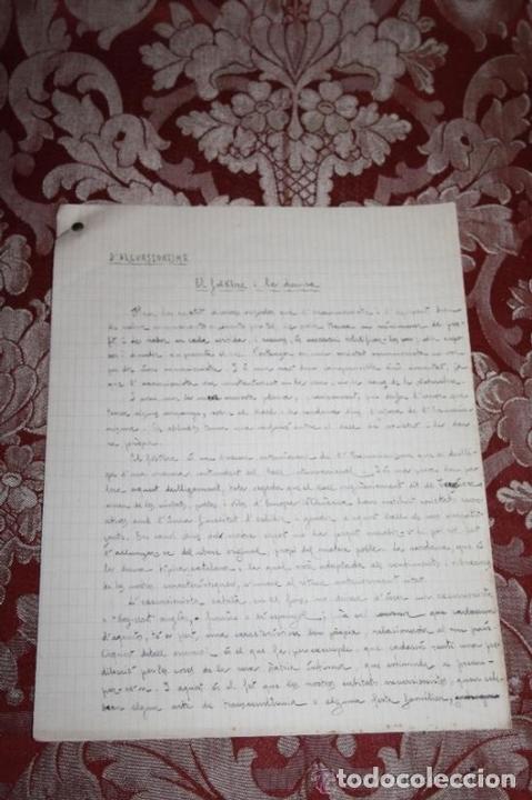 Manuscritos antiguos: INTERESANTE LOTE DE MANUSCRITOS ORIGINALES DE PERE ELIAS I BUSQUETA - AÑOS 34, 35 Y 36 - FIRMADOS - Foto 97 - 35687475