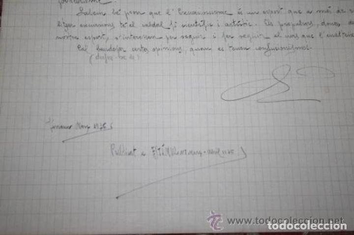Manuscritos antiguos: INTERESANTE LOTE DE MANUSCRITOS ORIGINALES DE PERE ELIAS I BUSQUETA - AÑOS 34, 35 Y 36 - FIRMADOS - Foto 99 - 35687475