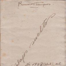Manuscritos antiguos: LIBRETA DEL POETA CATALÁN FRANCESC MORA FRADERA. MANUSCRITO PRIMEROS TIEMPOS 1933-1938. Lote 118806039
