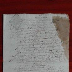 Manuscritos antiguos: PAPEL TIMBRADO SELLO DE OFICIO DOCUMENTO DE 1687 DIEZ MARAVEDIES . Lote 118816843
