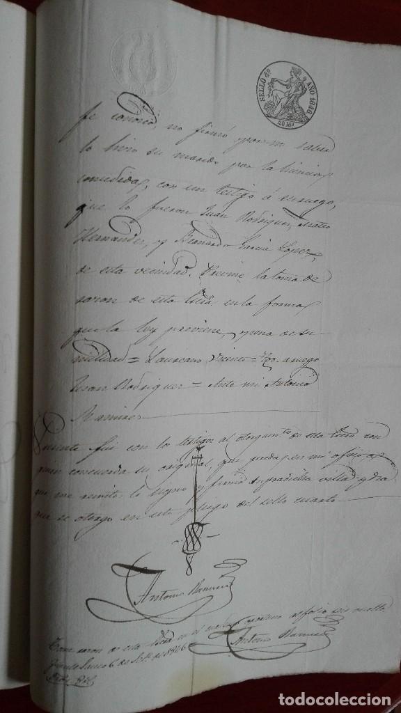 Manuscritos antiguos: PAPEL TIMBRADO SELLO DE OFICIO MANUSCRITO DE 1846 DE UNA COMPRAVENTA EN FUENTESAUCO, ZAMORA - Foto 4 - 118817671