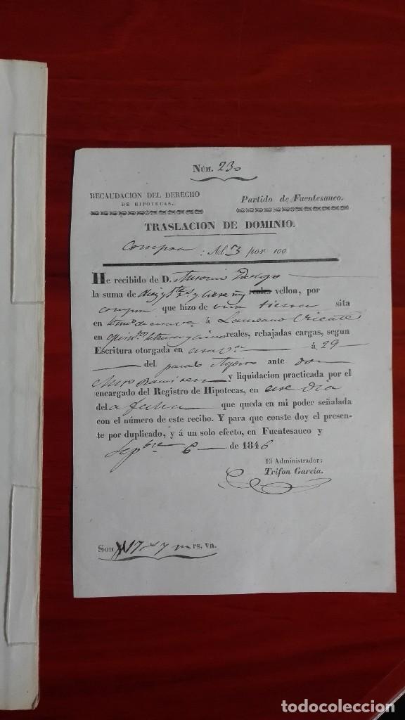 Manuscritos antiguos: PAPEL TIMBRADO SELLO DE OFICIO MANUSCRITO DE 1846 DE UNA COMPRAVENTA EN FUENTESAUCO, ZAMORA - Foto 5 - 118817671