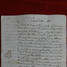 Manuscritos antiguos: MANUSCRITO DE RIUDARENAS 1816 COMUNICADO CATASTRAL. Lote 118819871