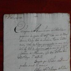 Manuscritos antiguos: MANUSCRITO DE DOCUMENTO NOTARIAL DE 1741 SOBRE UNA PROPIEDAD DE 1583 EN MADRID. Lote 118822487