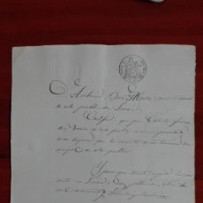 Manuscritos antiguos: PAPEL TIMBRADO SELLO DE OFICIO 9° DE 2 RS. 1864 LOSACIO ZAMORA. Lote 118824103