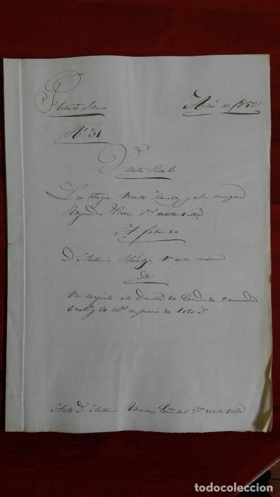 MANUSCRITO DE DOCUMENTO NOTARIAL DE UN TESTAMENTO EN FUENTESAUCO ZAMORA 1852 (Coleccionismo - Documentos - Manuscritos)
