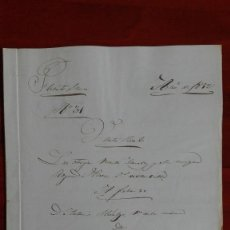 Manuscritos antiguos: MANUSCRITO DE DOCUMENTO NOTARIAL DE UN TESTAMENTO EN FUENTESAUCO ZAMORA 1852. Lote 118825059
