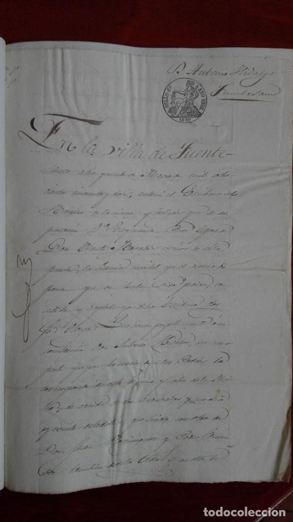 Manuscritos antiguos: MANUSCRITO DE DOCUMENTO NOTARIAL DE UN TESTAMENTO EN FUENTESAUCO ZAMORA 1852 - Foto 2 - 118825059