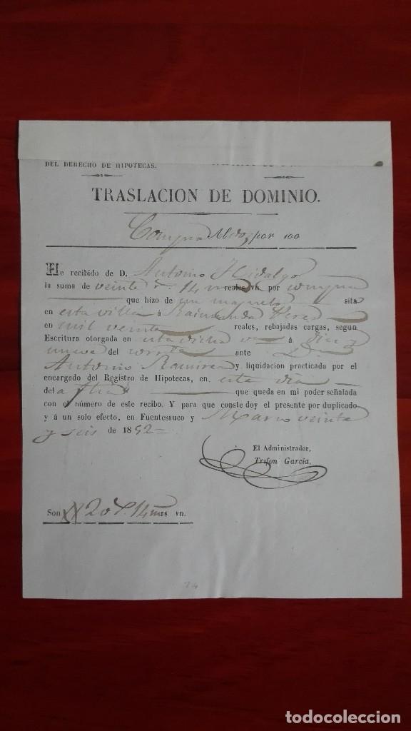 Manuscritos antiguos: MANUSCRITO DE DOCUMENTO NOTARIAL DE UN TESTAMENTO EN FUENTESAUCO ZAMORA 1852 - Foto 7 - 118825059