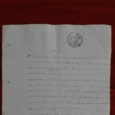 Manuscritos antiguos: PAPEL TIMBRADO SELLO DE OFICIO 4° DE 40 MS. 1852 HINOJOSA TERUEL. Lote 118825527