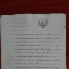 Manuscritos antiguos: PAPEL TIMBRADO SELLO DE OFICIO 9° DE 2 RS AÑO 1862 . Lote 118826111