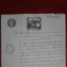 Manuscritos antiguos: PAPEL TIMBRADO SELLO DE OFICIO 1891 CASA DE SOCORRO MADRID. Lote 118830143