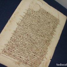 Manuscritos antiguos: 1513. VENTA DE HEREDADES A JERÓNIMO DE CASTRO MERCADER VECINO DE BURGOS.. Lote 118927443
