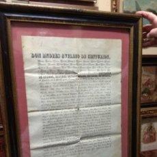 Manuscritos antiguos: ANTIGUO DOCUMENTO DON ANDRÉS AVELINO DE CENTURIÓN - ALMIRANTE DE ARAGÓN Y MARQUÉS DE ESTEPA. Lote 119466383