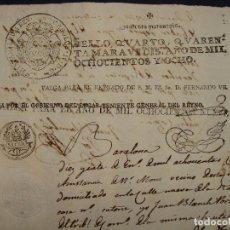Manuscritos antiguos: RARISIMO FISCAL. GUERRA INDEPENDENCIA. NAPOLEÓN GOBIERNO CATALUÑA. HABILITACIONES. LUGARTENIENTE.. Lote 119888831