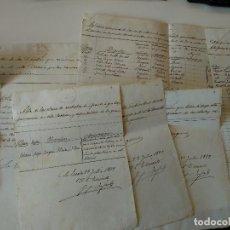 Manuscritos antiguos: 8 DOCUMENTOS MANUSCRITOS FINAL SIGLO XIX , PROBABLE L'ESCALA, GIRONA. Lote 119934379