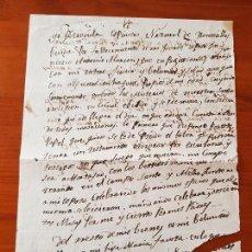 Manuscritos antiguos: ANTIGUO DOCUMENTO MANUSCRITO TESTAMENTO HONTECILLAS S. XIX. Lote 120243231