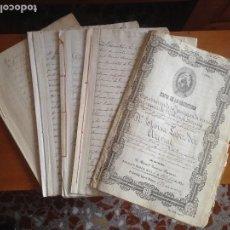 Manuscritos antiguos: VERA BEDAR- VELEZ RUBIO- ALMERIA- BERRUEZO- LOPEZ DEL ARENAL- DOCUMENTOS 1.874- 1.894- 1.895. Lote 120248615