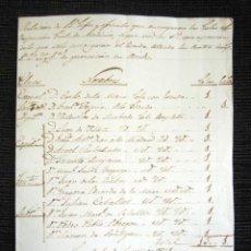 Manuscritos antiguos: AÑO 1835. LAREDO, SANTANDER. JEFES Y OFICIALES REGIMIENTO PROVINCIAL LAREDO. OVIEDO. FIRMA CORONEL. Lote 120335639