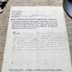 Manuscritos antiguos: DOCUMENTO 1819, VILLA DE TOBARRA, ALBACETE, DEUDA LIQUIDADA , JOSE JOAQUIN SALAZAR. Lote 120423099