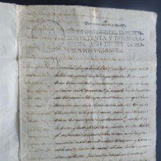 Manuscritos antiguos: MANUSCRITO AÑO 1815 / SELLO 2º / VENTA DE UNA HEREDAD / CASTELLÓ DE FARFANYA / BALAGUER / LLEIDA. Lote 120423191