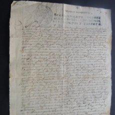 Manuscritos antiguos: MANUSCRITO AÑO 1731 / SELLO 4º / RECLACION DEUDA / VECINOS DE RAFALES / FIRMADO EN MONROYO / TERUEL. Lote 120425723