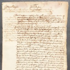 Manuscritos antiguos: 1596 MANUSCRITO - LATIN - ZARAGOZA. Lote 120458027
