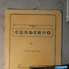 Manuscritos antiguos: LA ANTIGUA, ALCOY ,LIBRETA DE ESCUELA.1937 GUERRA CIVIL.. Lote 120474747