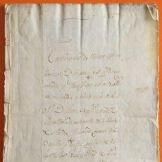 Manuscritos antiguos: LORCA- PURCHENA- BAZA- TESTIMONIO DE NOBLEZA- APELLIDOS CANO-BALDIBIESO- SANZ 1.832. Lote 120538735