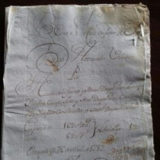 Manuscritos antiguos: VALLADOLID. NAVA DEL REY. 1782. Lote 120958932