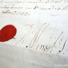 Manuscritos antiguos: AÑO 1722. VIENA, AUSTRIA. CUENTA INFANTE DON MANUEL DE PORTUGAL. FIRMA ORIGINAL Y LACRE. HERMANO REY. Lote 121141251