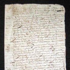 Manuscritos antiguos: AÑO 1634. BURGOS. AMPUERO. SANTANDER. SENTENCIA INQUISIDORES DE ARZOBISPADO DE BURGOS. INQUISICIÓN. Lote 121144483