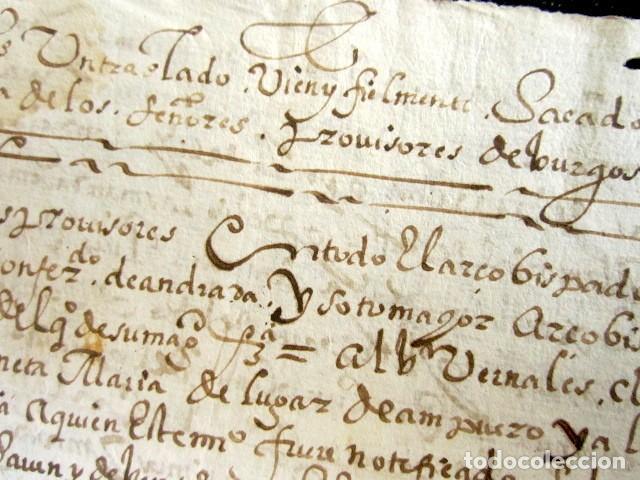 Manuscritos antiguos: AÑO 1634. BURGOS. AMPUERO. SANTANDER. SENTENCIA INQUISIDORES DE ARZOBISPADO DE BURGOS. INQUISICIÓN - Foto 2 - 121144483