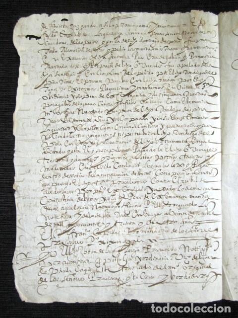 Manuscritos antiguos: AÑO 1634. BURGOS. AMPUERO. SANTANDER. SENTENCIA INQUISIDORES DE ARZOBISPADO DE BURGOS. INQUISICIÓN - Foto 3 - 121144483