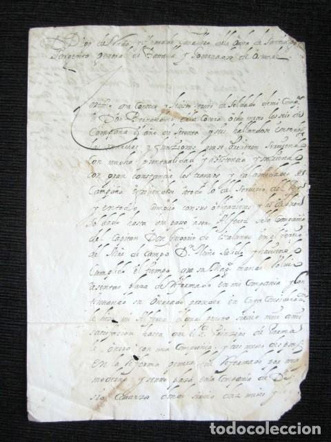 AÑO 1682. OSTENDE, BÉLGICA. CERTIFICADO DON DIEGO DE RADA Y ALVARADO. LAREDO. FIRMA Y SELLO PLACADO. (Coleccionismo - Documentos - Manuscritos)